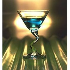 """Peppermint Lounge """"Let's Twist Again"""" Martini Glass (Set of 2) $24.00 [for Art]"""