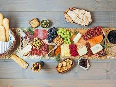 'Charcuterie' is a French term that's derived from the words for cooked ('cuit') and flesh ('chair') and refers to cured meats that can be served cold. A well-stocked charcuterie board makes entertaining easy – just pile it high with deliciousness, then let guests help themselves while you mix, mingle and enjoy the party without worrying about preparing or serving food.