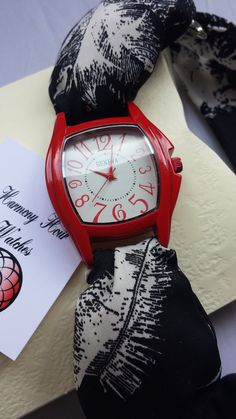 Red watch women by Harmony Hour watches https://www.etsy.com/shop/HARMONYHOURWATCHES