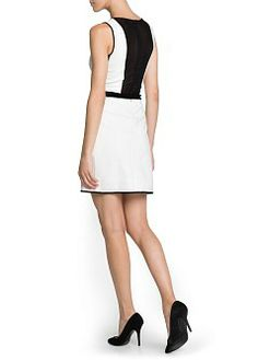 MANGO - NEW - Mesh panels tailored dress