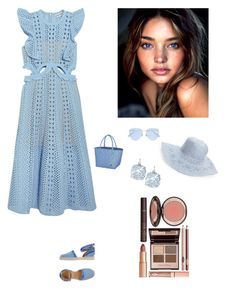 """""""Summer"""" by kotnourka ❤ liked on Polyvore featuring self-portrait, Philipp Plein, Kate Spade, Sunday Somewhere, Charlotte Tilbury and Hinge"""