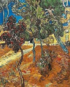 Trees In The Garden Of Saint Paul Hospital IV Vincent Van Gogh Reproduction | 1st Art Gallery