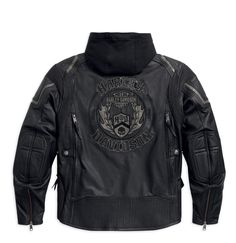 <p> This midweight cowhide leather jacket has a polyester mesh body lining and sleeve lining featuring polyester mesh with polyester taffeta. The Triple Vent System
