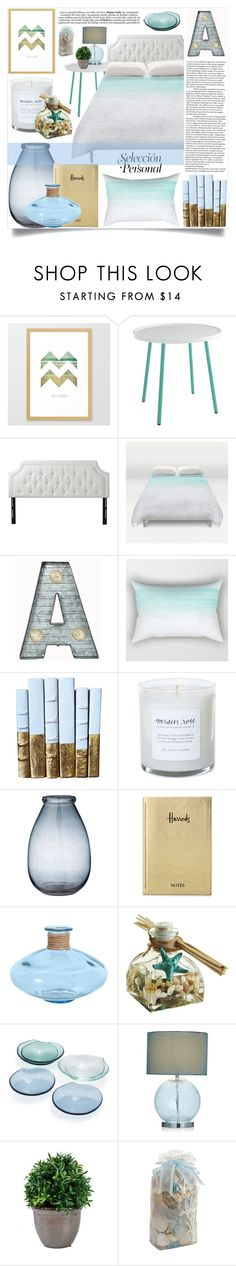 """Bedroom - Beach"" by by-jwp ❤ liked on Polyvore featuring interior, interiors, interior design, home, home decor, interior decorating, Jennifer Taylor, Crystal Art, Lene Bjerre and Harrods"