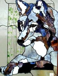 Stained Glass wolf wanna try an do this one with my dad soon
