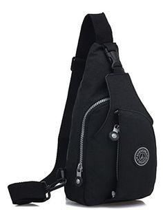 Chickle Womens Black Sling Chest Shoulder Bag -- Click image for more details.
