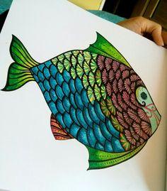Multicolor fish / Lost Ocean coloring book #lostocean #coloringbook #adultcoloringbook