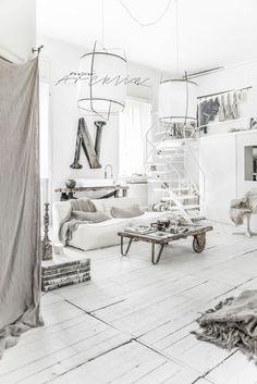 White bohemian Milan loft by Paulina Arcklin