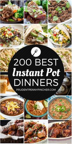 This is the ULTIMATE list of the BEST instant pot recipes. There are hundreds . - This is the ULTIMATE list of the BEST instant pot recipes. There are hundreds … – Dinners – - Best Instant Pot Recipe, Instant Pot Dinner Recipes, Recipes Dinner, Instant Pot Easy Recipes, Instant Pot Meals, Dinner Ideas, Dinner Menu, Breakfast Recipes, Breakfast Cooking