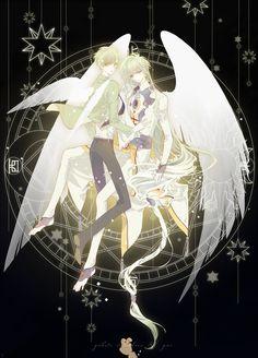 Tsukishiro Yukito and Yue | Cardcaptor Sakura