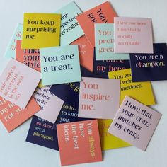 ideas quotes encouragement compliment for 2019 Affirmation Karten, Affirmation Cards, Cute Compliments, 365 Jar, Open When Letters, My Champion, Grafik Design, Sticky Notes, Encouragement Quotes