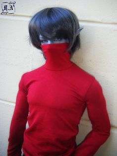 Blood Red turtle neck  for soom ID72 megagem by ResinAristocracy