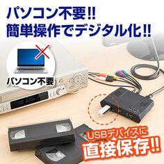 パソコン不要で、コンポジット/コンポーネント・アナログ入力、HDMIデジタル入力に対応したキャプチャーボックス。ドライバなどのインストールが不要で、簡単なボタン操作で映像・音声のデジタル保存が可能なビデオキャプチャー。H.264/MPEG-4形式保存。HDMI出力