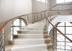 Provide structure and safety in your upstairs access with the right balustrades and staircases. Home Ideas has all the balustrade materials and staircase designs you'll ever need. Carpet Staircase, Staircase Runner, Winding Staircase, Staircase Railings, Staircase Design, Stair Runners, Staircases, Staircase Diy, Marble Stairs