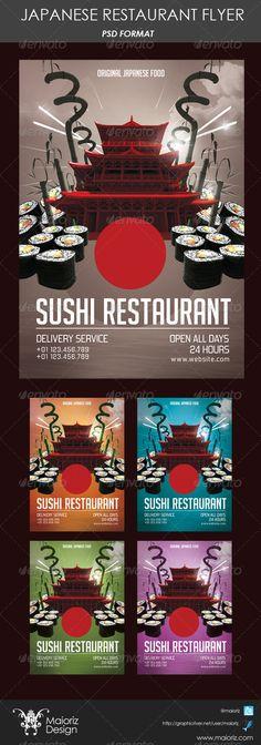 Sushi Restaurant Menu Flyer V  Sushi Restaurants Flyer