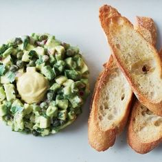 Avocado Recipes: Avocado Hollandaise, Avocado Tartare, King Crab & Avocado Shooters, Avocado Crostini Two Ways  Avocado stars along with an anchovy, parsley pesto in an hors d'oeuvre that will be gone in seconds.    Avocado-Caviar Mousse, Avocado Butter & Avocado Pissaladiére.