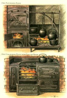 Victorian Interiors and More: The Victorian Kitchen Kitchen Stove, Old Kitchen, Vintage Kitchen, Victorian Interiors, Victorian Homes, Victorian Era, Victorian Dollhouse, Vintage Interiors, Old Stove