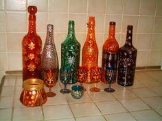 Peinture sur verre on pinterest glass candle holders for Peinture sur verre