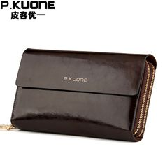 15b083ba60ac P.KUONE 2018 Hot Sale Wallet Genuine Leather Fashion Men Clutch Messenger Bag  Coin Purse Card Holder Money Passport Cover Clam-in Wallets from Luggage ...