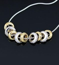 Sterling Silver Charm Necklace - Save 85% Just $18.00