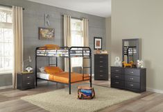 Bunkbeds Black Twin-