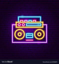 Music recorder neon label vector image on VectorStock Wallpaper Iphone Neon, Funny Phone Wallpaper, Neon Wallpaper, Music Wallpaper, Instagram Frame, Instagram Logo, Instagram Story, Vaporwave, Thank You Phrases
