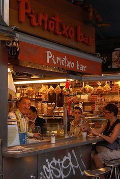 Bar Pinotxo, inside Mercat de la Boqueria, Barcelona