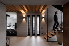 """House Redesign Abundant in Soft Walnut Hues: """"Two-Levels"""" Project in Ukraine - http://freshome.com/2015/02/09/house-redesign-abundant-in-soft-walnut-hues-two-levels-project-in-ukraine/"""