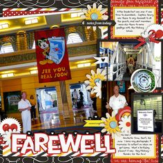 Disney Cruise farewell digital scrapbook page by QueenofPurls using Project Mouse by Sahlin Studio & Britt-ish Designs
