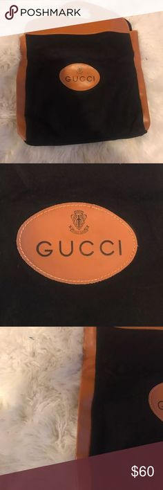 GUCCI Vintage Felt shopper leather good bag Great condition from the 1970's can be used as a purse or to cover a bag Gucci Bags