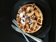 Skillet Apple Waffle - Recipe From Diners Drive ins and Dives
