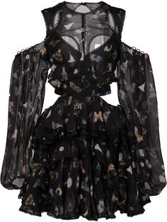 Alexander McQueen Obsession print dress