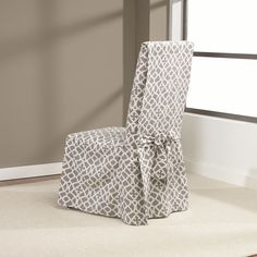 Sure Fit Introduces The Iron Gate Dining Room Chair Slipcover This Design Is Modern And