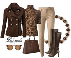 Leopard touch in winter clothes | lolomoda