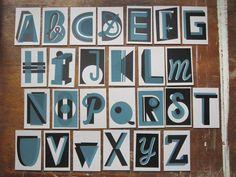 ABC & Alphabet art prints: Screenprinted Alphabetby Bombina Studios