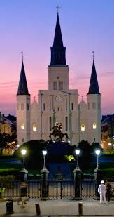 St. Loius Catherderal, Jackson Square, Cafe Du Monde (in french quarter)