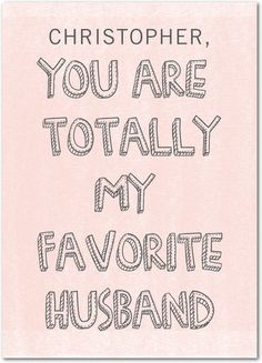Favorite Husband - Valentine's Day Cards in Soft Pink | A Fresh Bunch