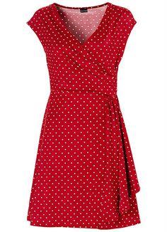 Vestido de Bolinhas Vermelho - Posthaus