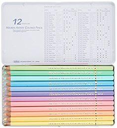 12 color pastel colored pencil set Holbein (japan import)