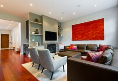 Comtemporary Living Room via www.cmidesign.ca #CMID