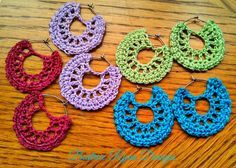 Simple Summertime Crochet Earrings ~ Free Pattern