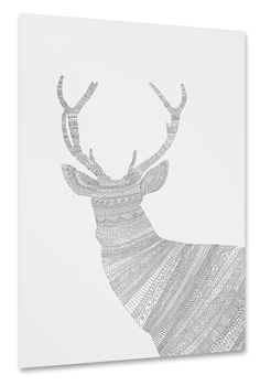 Grey Stag Poster
