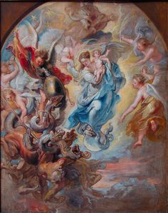 Virgin as the Woman of the Apocalypse, Peter Paul Rubens,  1623-1624 Getty.