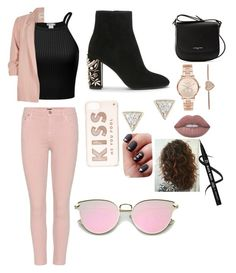 """""""Girls night out"""" by melina-bee ❤ liked on Polyvore featuring River Island, Citizens of Humanity, Kate Spade, Lancaster, Michael Kors and Adina Reyter"""