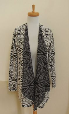 American Eagle Outfitters Waterfall Cardigan S Open Tribal Aztec Print Knit New #AmericanEagleOutfitters #Cardigan