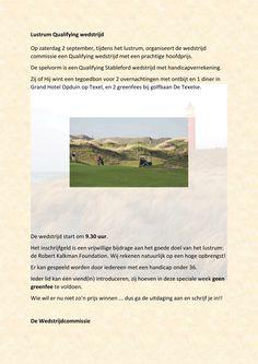 Golfclub Capelle, Wedstrijdcommissie Qualifying Lustrum wedstrijd op zaterdag 2 september 2017 2 September, Club