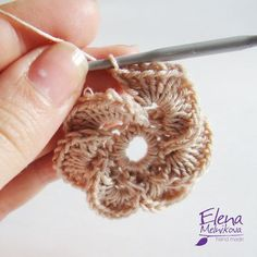 So pretty---Crochet flower... Photo tutorial...