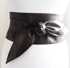 Dark Brown Soft Leather Obi Tulip tie Belt | Waist or Hip Belt | Sash tie belt | Real Leather Belt| Corset Belt | Plus size belts by LoveYaaYaa on Etsy