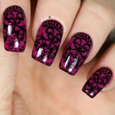 Dark romance nails