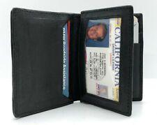 Black Genuine Leather Men's Bifold Wallet Center Flap Card Holder for sale online Leather Card Case, Leather Bifold Wallet, Ridge Wallet, Rfid Blocking Wallet, Best Wallet, Money Clip Wallet, Billfold Wallet, Black Gift Boxes, Black Wallet
